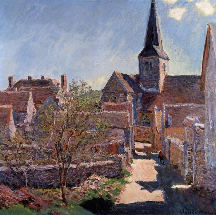 famous painting Bennecourt of Claude Monet