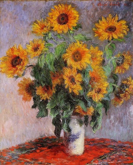 famous painting Bouquet of Sunflowers of Claude Monet