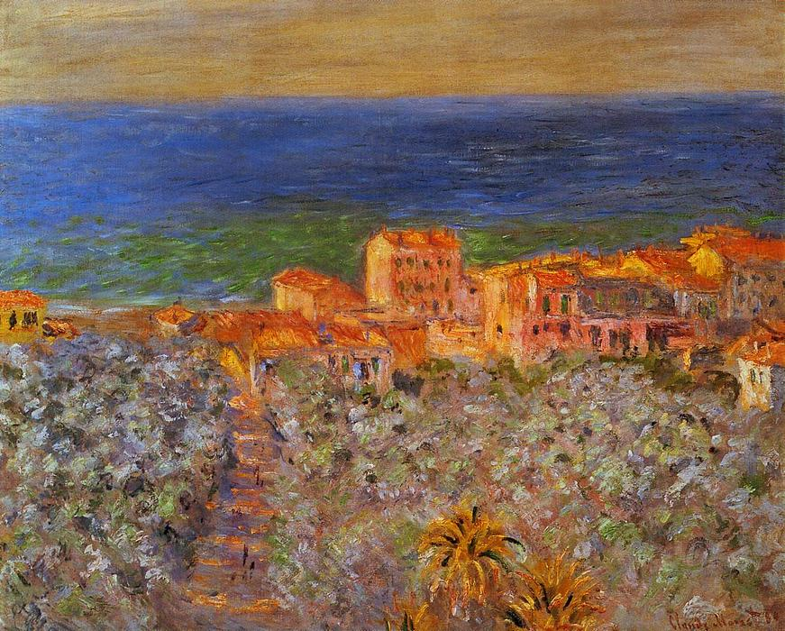 famous painting Burgo Marina at Bordighera of Claude Monet