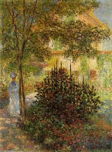Claude Monet - Camille Monet in the Garden at the House in Argenteuil