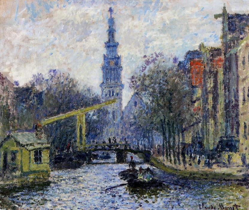 famous painting Canal in Amsterdam of Claude Monet