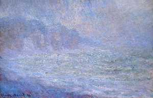Claude Monet - Cliffs at Pourville, Rain