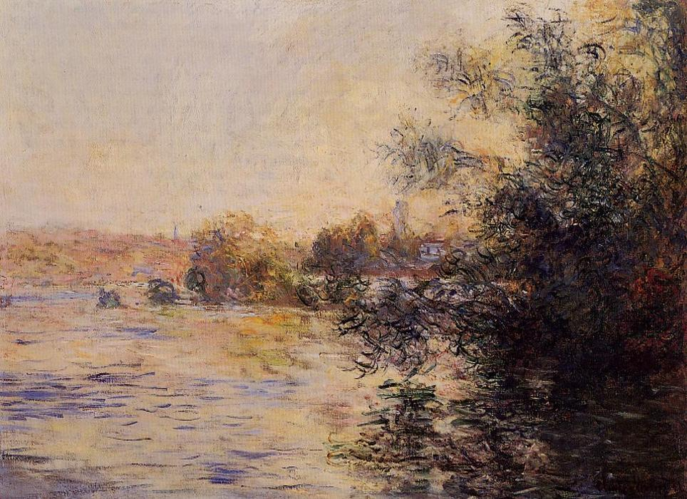 famous painting Evening Effect of the Seine of Claude Monet