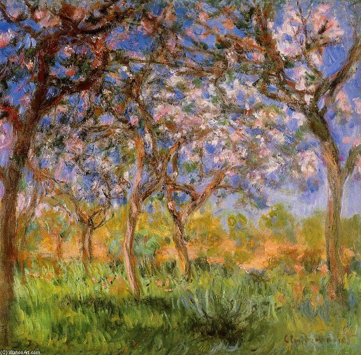 famous painting Giverny in Springtime of Claude Monet
