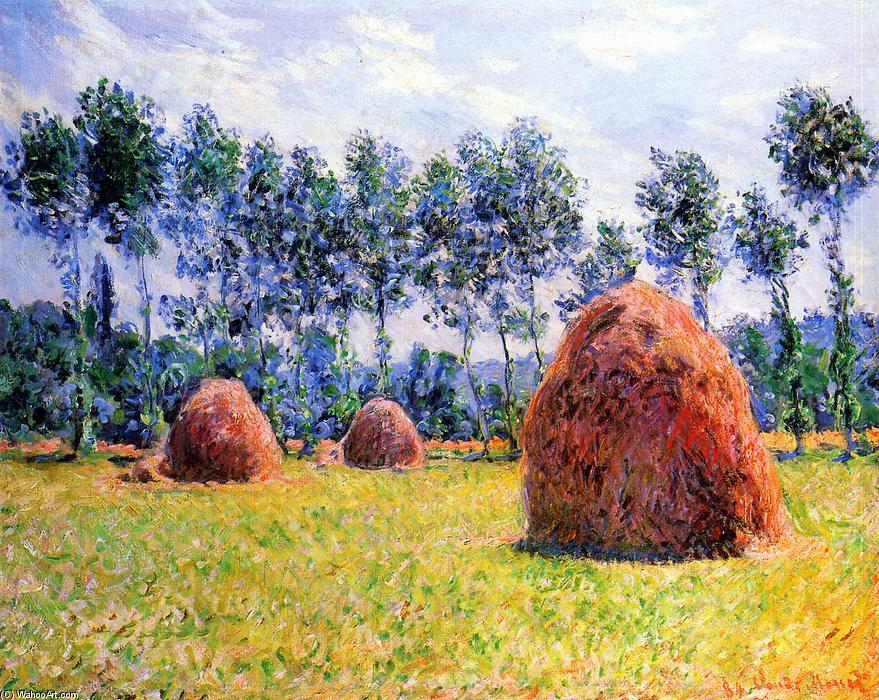 famous painting Haystacks at Giverny of Claude Monet