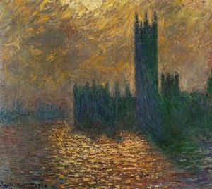 Claude Monet - Houses of Parliament, Stormy Sky