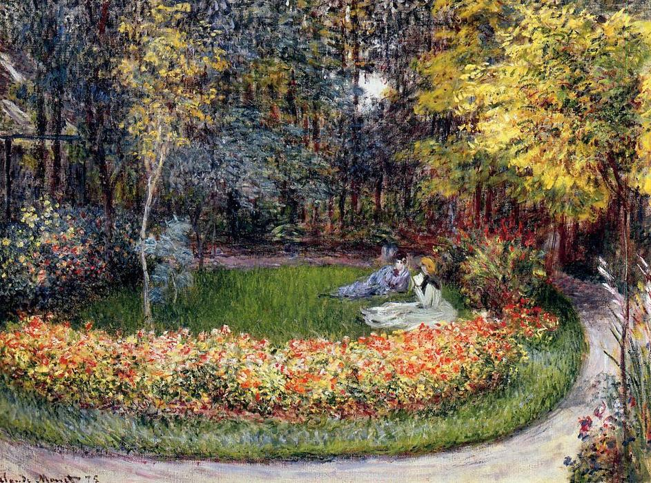 famous painting In the Garden of Claude Monet