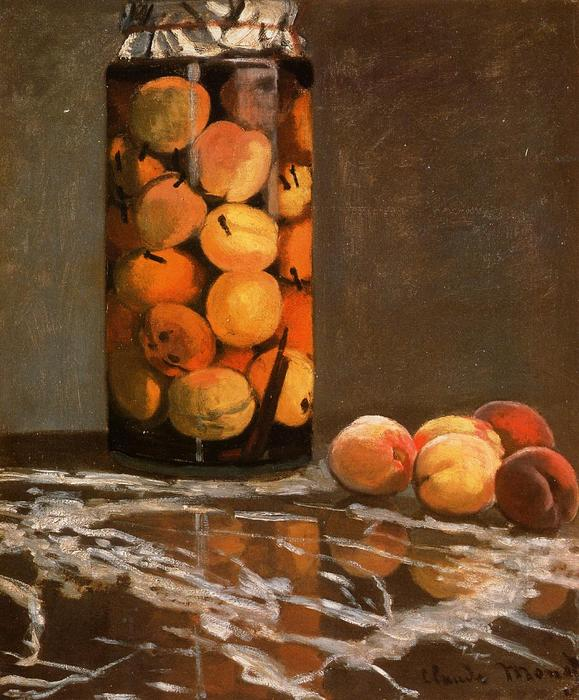 famous painting Jar Of Peaches of Claude Monet