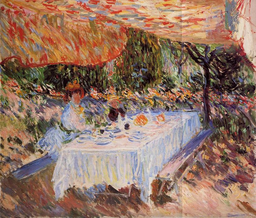 famous painting Luncheon under the Canopy of Claude Monet