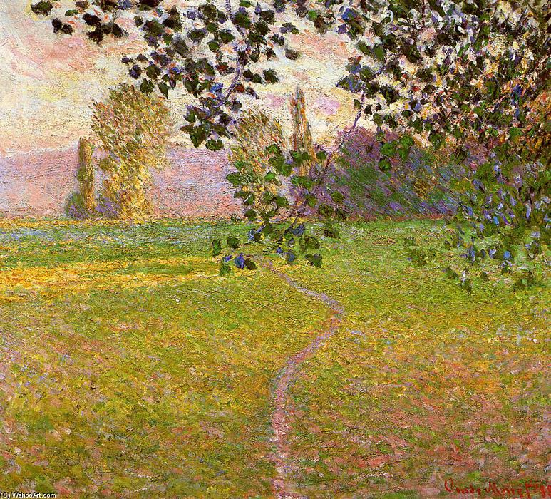 famous painting Morning Landscape, Giverny (aka Landscape in the Morning) of Claude Monet