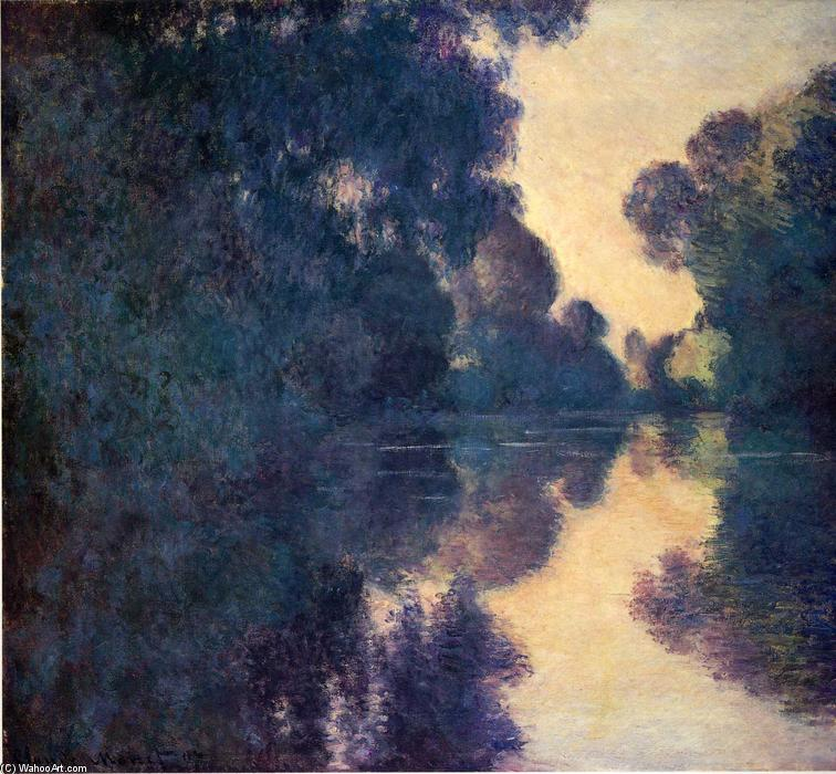 famous painting Morning on the Seine, Clear Weather of Claude Monet