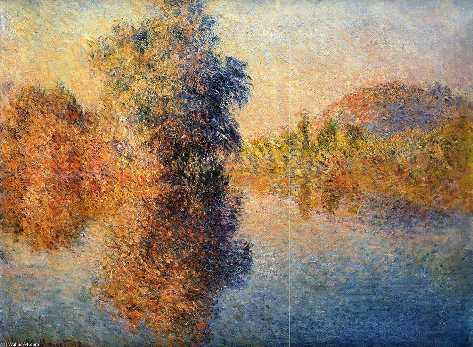 famous painting Morning on the Seine of Claude Monet