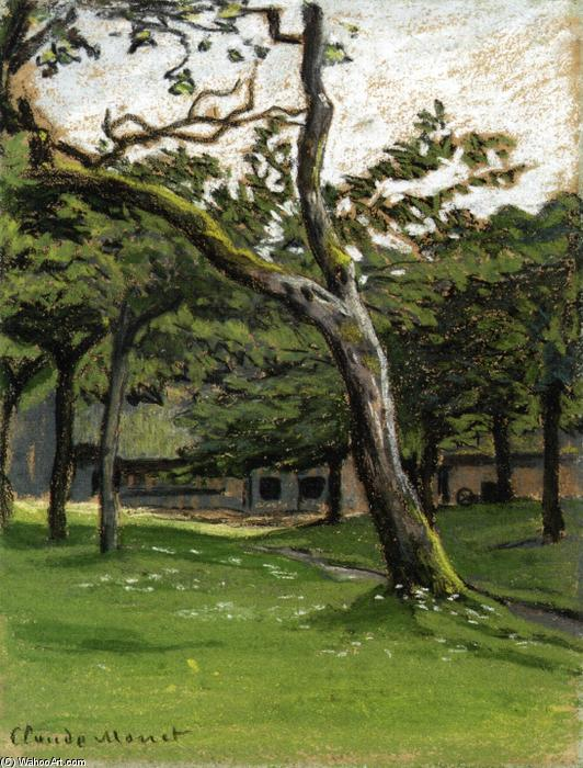 famous painting Norman Farm through the Trees of Claude Monet