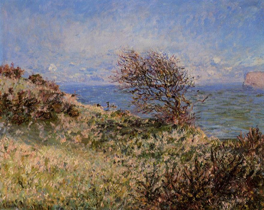 famous painting On the Cliff at Fecamp of Claude Monet