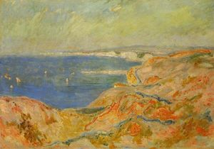 Claude Monet - On the Cliff near Dieppe 1