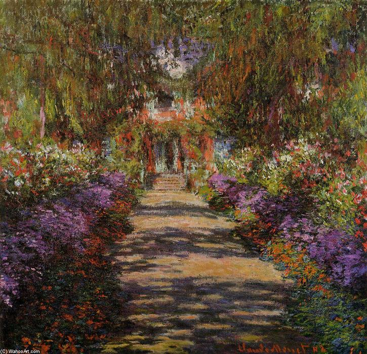 Order Museum Quality Copies Impressionism | Pathway in Monet's Garden at Giverny by Claude Monet | TopImpressionists.com