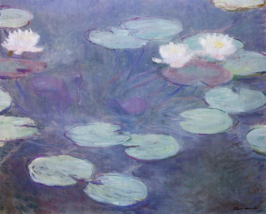 famous painting Pink Water-Lilies of Claude Monet