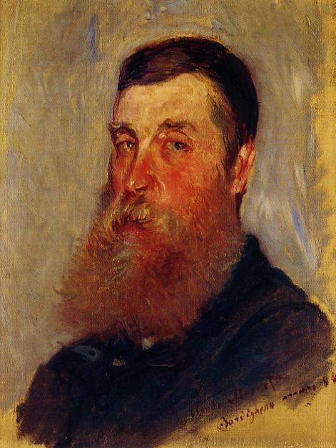 famous painting Portrait of an English Painter, Bordighera of Claude Monet