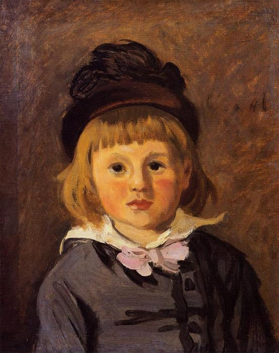 famous painting Portrait of Jean Monet Wearing a Hat with a Pompom of Claude Monet