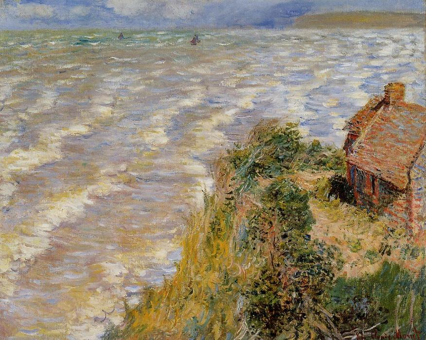famous painting Rising Tide at Pourville of Claude Monet