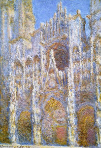 Claude Monet - Rouen Cathedral, Sunlight Effect