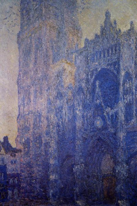 famous painting Rouen Cathedral, the Portal and the tour d'Albane, Morning Effect of Claude Monet