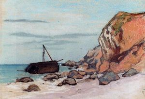 Claude Monet - Saint-Adresse, Beached Sailboat