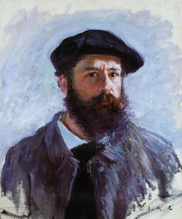 famous painting Self-Portrait with a Beret of Claude Monet