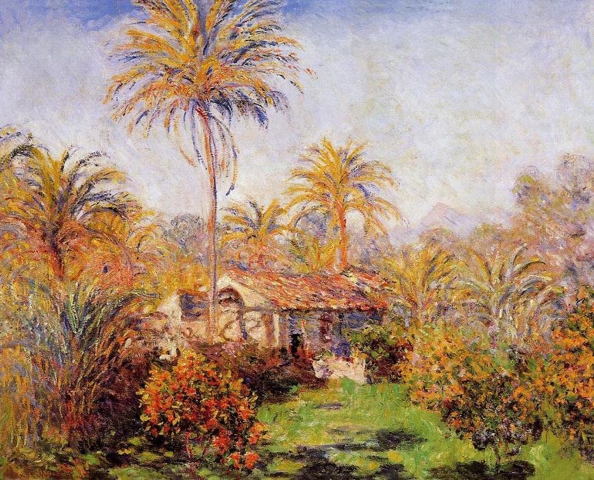 famous painting Small Country Farm in Bordighera of Claude Monet