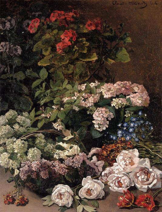 famous painting Spring Flowers of Claude Monet