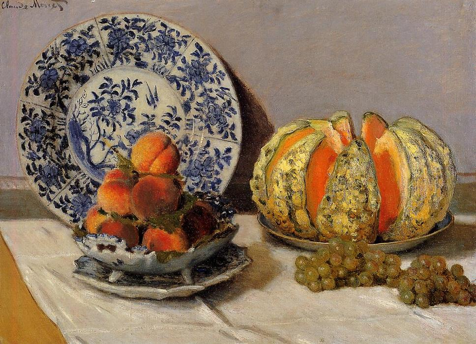 famous painting Still Life with Melon of Claude Monet