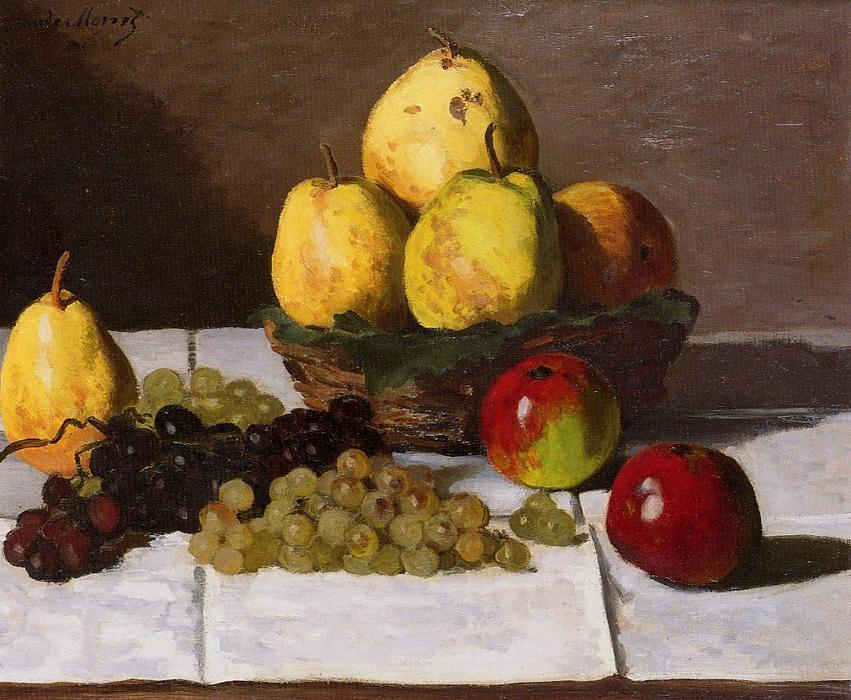 famous painting Still Life with Pears and Grapes 1 of Claude Monet
