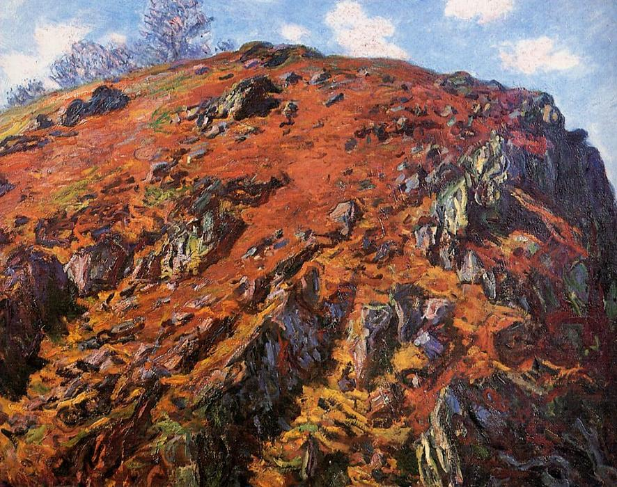 famous painting Study of Rocks (aka Le Bloc) of Claude Monet