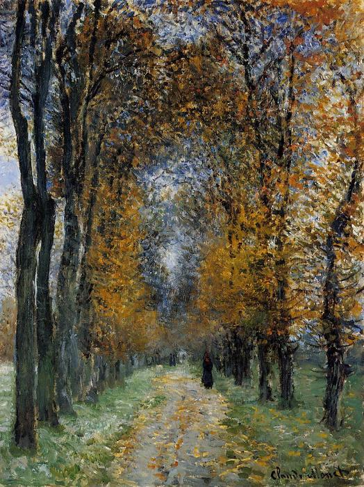 famous painting The Avenue of Claude Monet