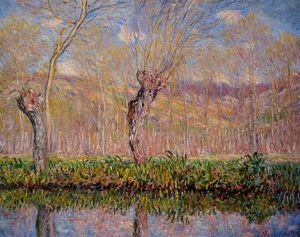 Claude Monet - The Banks of the River Epte in Springtime