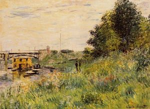 Claude Monet - The Banks of the Seine at the Argenteuil Bridge