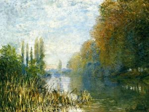 Claude Monet - The Banks of The Seine in Autumn