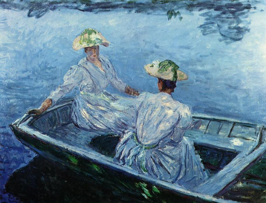 famous painting The Blue Row Boat of Claude Monet