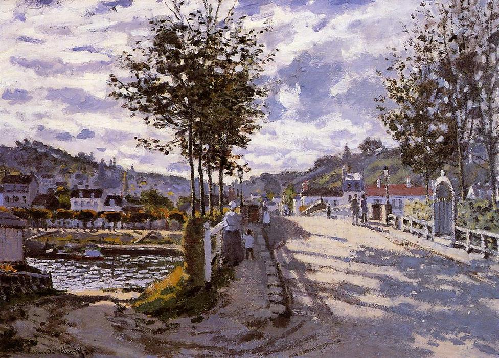famous painting The Bridge at Bougival of Claude Monet