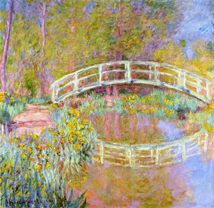 famous painting The Bridge in Monet's Garden of Claude Monet