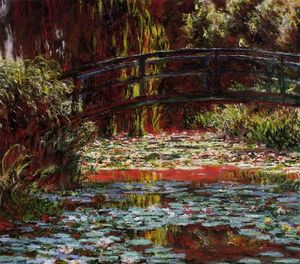 Claude Monet - The Bridge over the Water-Lily Pond 1