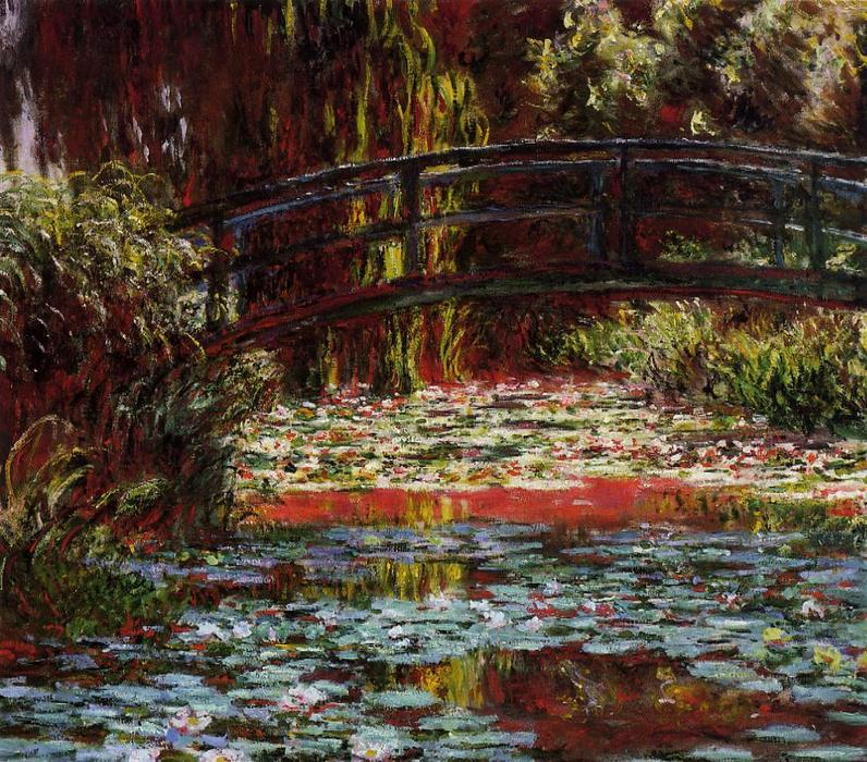 famous painting The Bridge over the Water-Lily Pond 1 of Claude Monet