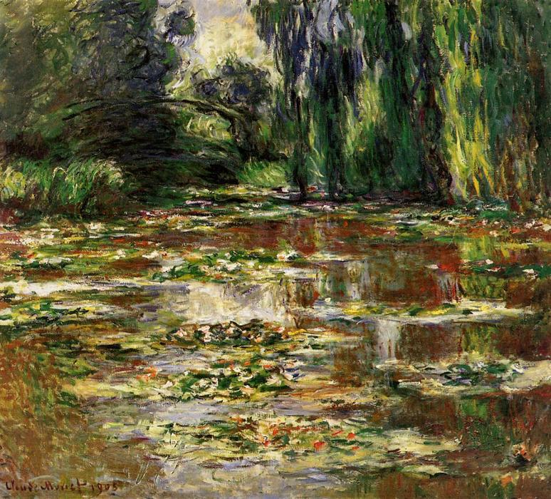 famous painting The Bridge over the Water-Lily Pond of Claude Monet