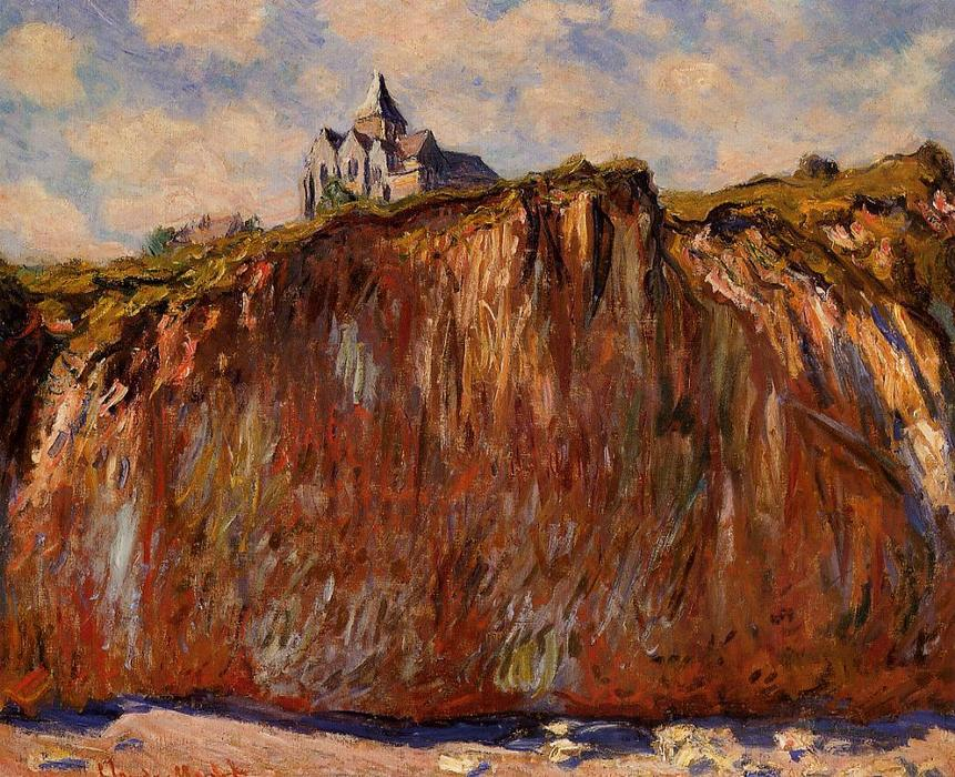 famous painting The Church at Varengeville of Claude Monet