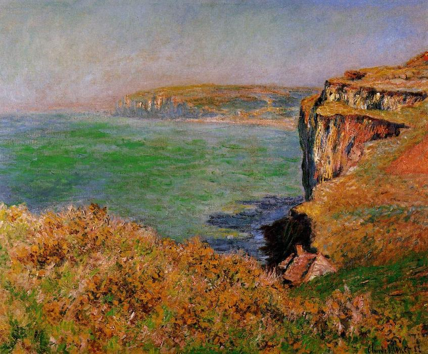 famous painting The Cliff at Varengeville of Claude Monet