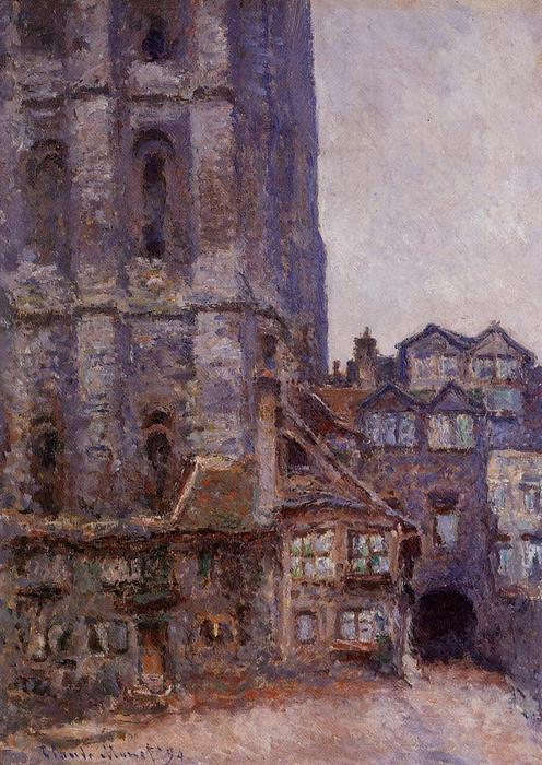 famous painting The Cour d'Albane, Grey Weather of Claude Monet