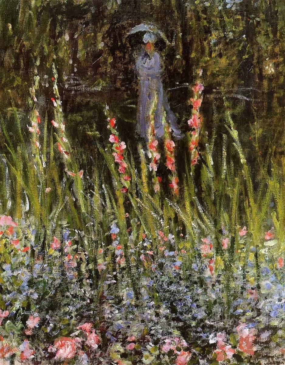 famous painting The Garden, Gladioli of Claude Monet