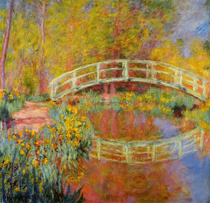 famous painting The Japanese Bridge at Giverny of Claude Monet