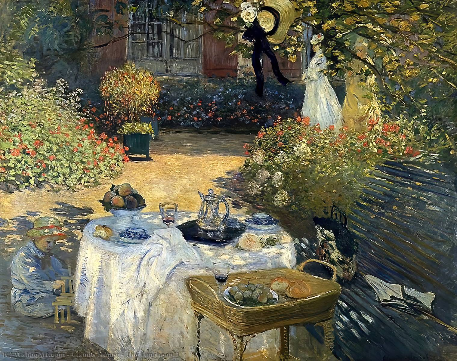famous painting The Luncheon 1 of Claude Monet