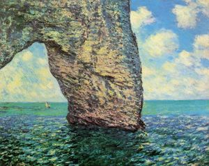 Claude Monet - The Manneport at High Tide